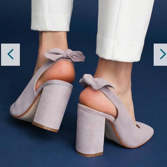 730b2071a8 Anthropologie Shoes | New Tied Slingback Heels 148 Sz38 | Poshmark